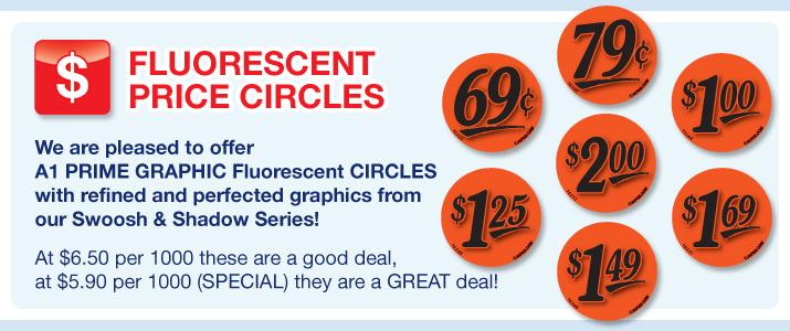 "Fl. Red Circle Price Labels (1.25"")"