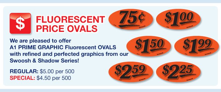 Fl. Oval Price Labels (1x2)