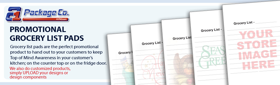 Promotional Grocery List Pads