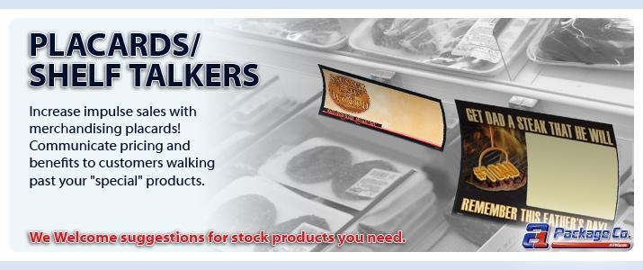 Shelf Talkers / Placards