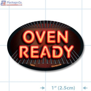 Oven Ready Full Color Oval Merchandising Labels - Copyright - A1PKG.com SKU -  14010