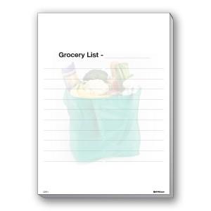 Grocery List pads 50 sheets A1Pkg.com SKU 00399
