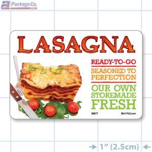 Lasagna Full Color HMR Rectangle Merchandising Labels - Copyright - A1PKG.com SKU -  26577
