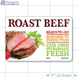 Roast Beef Full Color HMR Rectangle Merchandising Labels - Copyright - A1PKG.com SKU -  26578