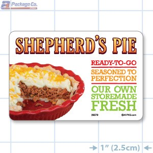 Shepherd's Pie Full Color HMR Rectangle Merchandising Labels - Copyright - A1PKG.com SKU -  26579