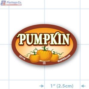 Pumpkin Full Color Oval Merchandising Labels - Copyright - A1PKG.com SKU -  33116