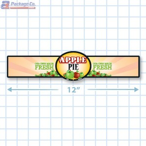 Apple Pie Full Color Strap Merchandising Label Copyright A1PKG.com - 35002