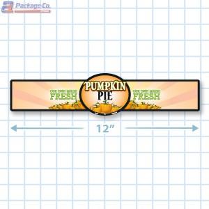 Pumpkin Pie Full Color Strap Merchandising Label Copyright A1PKG.com - 35005