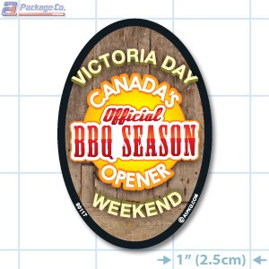 Victoria Day Full Color Oval Merchandising Label Copyright A1PKG.com - 90117