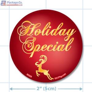 Holiday Special Circle Merchandising Labels - Copyright - A1PKG.com SKU # 90326