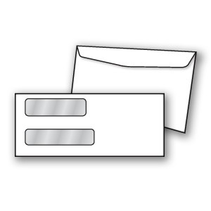 Confidential Double Window Envelope - Copyright - A1PKG.com SKU - 00499