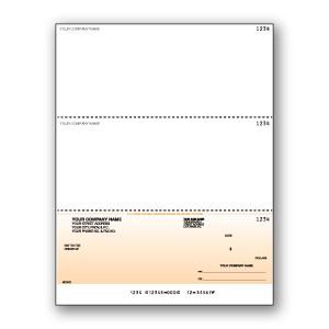 Standard Background Cheque- Black Print- Bottom Cheque - Copyright - A1PKG.com SKU - 00197