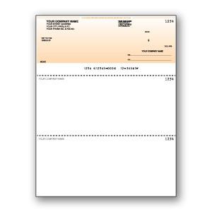 Standard Background Cheque- Black Print- Top Cheque - Copyright - A1PKG.com SKU - 00199