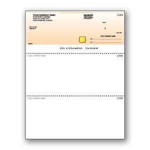 Hologram with Standard Background Cheque - Top Cheque - Copyright - A1PKG.com SKU - 00193