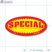 Special Bright Yellow Oval Merchandising Labels - Copyright - A1PKG.com SKU - 10106