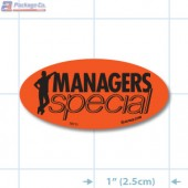 Manager's Special Fluorescent Red Oval Merchandising Labels - Copyright - A1PKG.com SKU # 10111