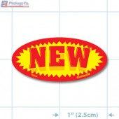 New Bright Yellow Oval Merchandising Labels - Copyright - A1PKG.com SKU - 10214