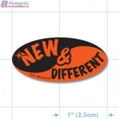 New & Different Fluorescent Red Oval Merchandising Labels - Copyright - A1PKG.com SKU - 10217
