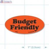 Budget Friendly Fluorescent Red Oval Merchandising Labels - Copyright - A1PKG.com SKU - 10319