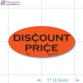Discount Price Fluorescent Red Oval Merchandising Labels - Copyright - A1PKG.com SKU - 10320