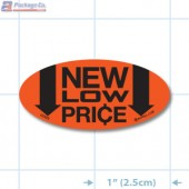 New Low Price Fluorescent Red Oval Merchandising Labels - Copyright - A1PKG.com SKU - 10323