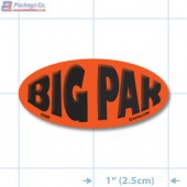 Big Pack Fluorescent Red Oval Merchandising Labels - Copyright - A1PKG.com SKU - 10426