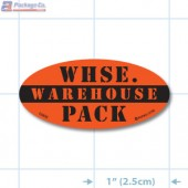Warehouse Pack Fluorescent Red Oval Merchandising Labels - Copyright - A1PKG.com SKU - 10432