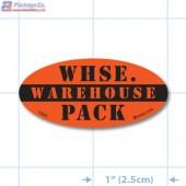 Warehouse Pack Fluorescent Red Oval Merchandising Labels - Copyright - A1PKG.com SKU - 10432