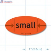 Small Fluorescent Red Oval Merchandising Labels - Copyright - A1PKG.com SKU - 10534