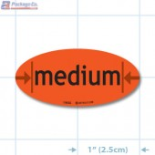 Medium Fluorescent Red Oval Merchandising Labels - Copyright - A1PKG.com SKU - 10535