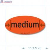 Medium Fluorescent Red Oval Merchandising Labels - Copyright - A1PKG.com SKU - 10535
