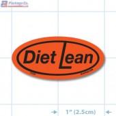 Diet Lean Fluorescent Red Oval Merchandising Labels - Copyright - A1PKG.com SKU - 10638