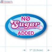 No Sugar Added Full Color Oval Merchandising Labels - Copyright - A1PKG.com SKU -  10645