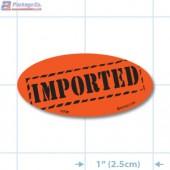 Imported Fluorescent Red Oval Merchandising Labels - Copyright - A1PKG.com SKU - 10748