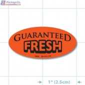 Guaranteed Fresh Fluorescent Red Oval Merchandising Labels - Copyright - A1PKG.com SKU - 10856