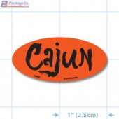 Cajun Fluorescent Red Oval Merchandising Labels - Copyright - A1PKG.com SKU - 10962
