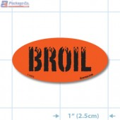 Broil Fluorescent Red Oval Merchandising Labels - Copyright - A1PKG.com SKU - 11004