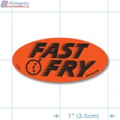 Fast Fry Fluorescent Red Oval Merchandising Labels - Copyright - A1PKG.com SKU - 11006