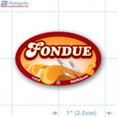 Fondue Full Color Oval Merchandising Labels - Copyright - A1PKG.com SKU -  11016