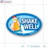 Shake Well Full Color Oval Merchandising Labels - Copyright - A1PKG.com SKU -  11185