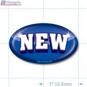 New Full Color Oval Merchandising Labels - Copyright - A1PKG.com SKU - 13201