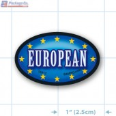 European Full Color Oval Merchandising Labels - Copyright - A1PKG.com SKU -  13917