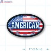 American Full Color Oval Merchandising Labels - Copyright - A1PKG.com SKU -  13918