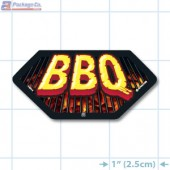 BBQ Full Color Hex Merchandising Label Copyright A1PKG.com - 14014