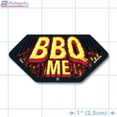 BBQ Me Full Color Hex Merchandising Label Copyright A1PKG.com - 14015