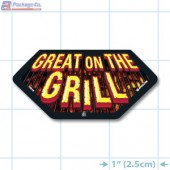 Great on the Grill Full Color Hex Merchandising Label Copyright A1PKG.com - 14016