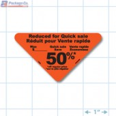 Reduced 50% Fluorescent Red Oval Merchandising Labels - Copyright - A1PKG.com SKU - 14903