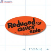 Reduced for Quick Sale Fluorescent Red Oval Merchandising Labels - Copyright - A1PKG.com SKU - 14991