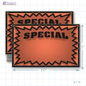 "Orange Special 3D Starburst Merchandising Placards 1UP (11"" x 7"") - Copyright - A1PKG.com - 16007"