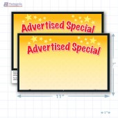 "Advertised Special Merchandising Placards 1UP (11"" x 7"") - Copyright - A1PKG.com - 16801"